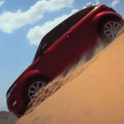 Range Rover Evoque takes on Oman